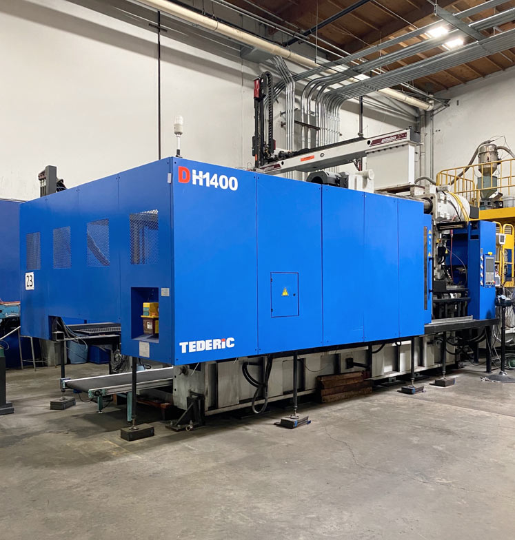 our 1500 ton injection molding machine, very unique and rare in California